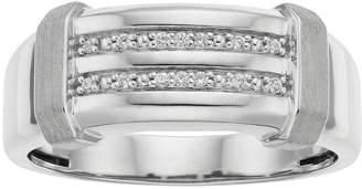 Men's 10k White Gold Diamond Accent Channel Ring