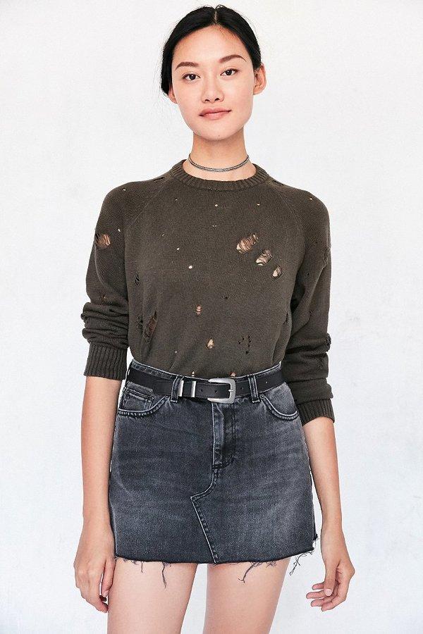 BDG 5-Pocket Denim Pelmet Mini Skirt