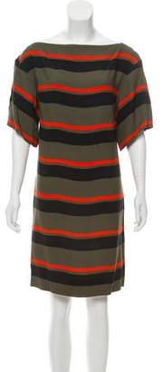 Sonia Rykiel Short Sleeve Striped Dress