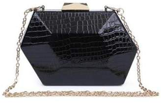 Urban Expressions Crocodile Hard Clutch