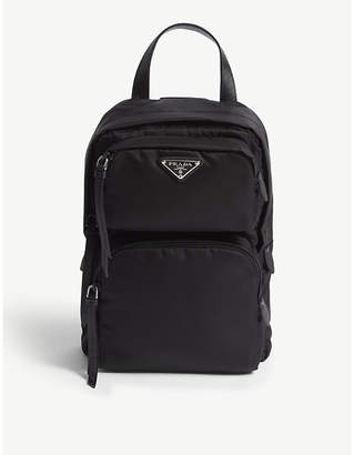 Prada Black One Shoulder Backpack