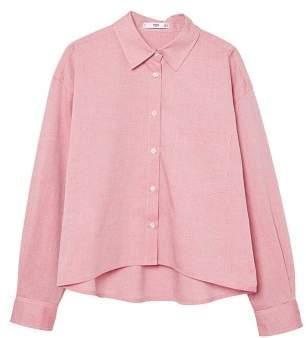 MANGO Cropped cotton shirt