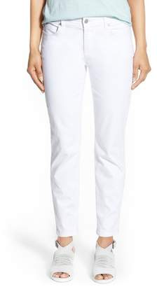 Eileen Fisher Garment Dyed Stretch Skinny Jeans (Petite)