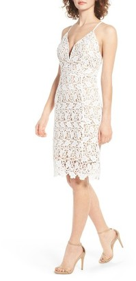 Women's J.o.a. Deep V-Neck Lace Dress $89 thestylecure.com