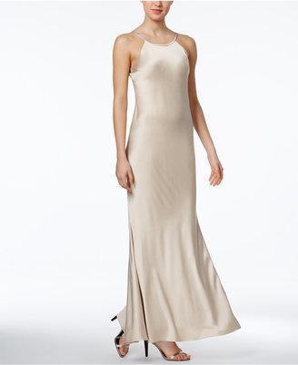 Calvin Klein Open-Back Satin Gown $199 thestylecure.com
