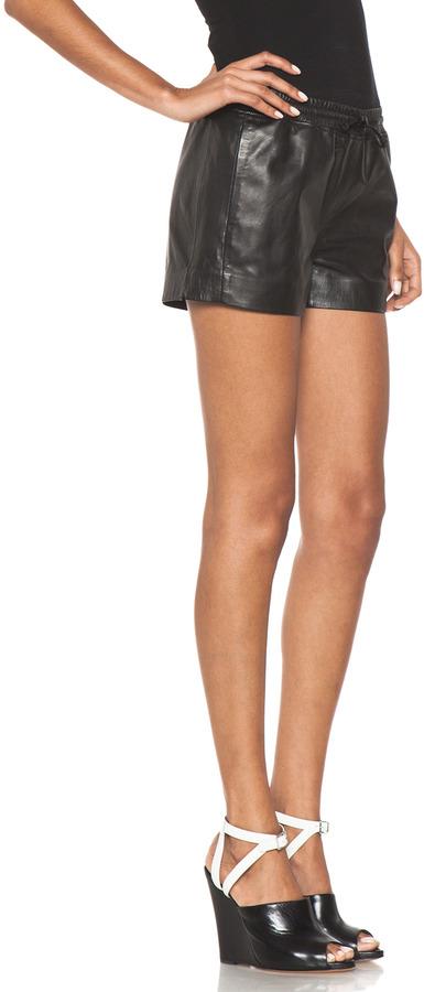 Joseph Nappa Leather Shorty in Black