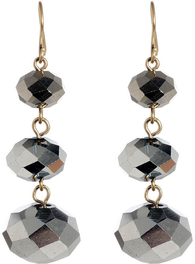 Kenneth Cole New York Earrings, Silver Bead Drop