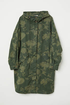 H&M H&M+ Patterned Cotton Parka - Green