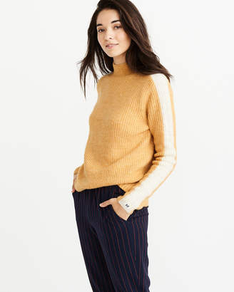 Abercrombie & Fitch Side-Stripe Turtleneck Sweater