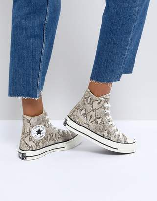 Converse Chuck Taylor All Star '70 High Top Sneakers In Snake Print