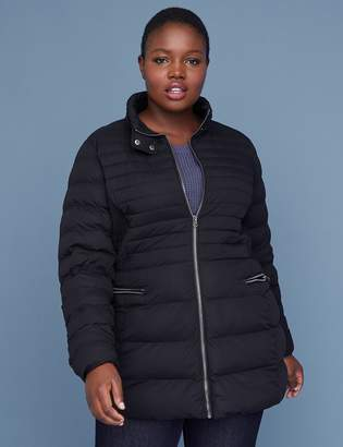 Lane Bryant Stretch Puffer Jacket - Black