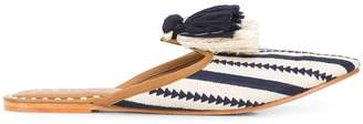 Figue Audrey arrow stripe mules