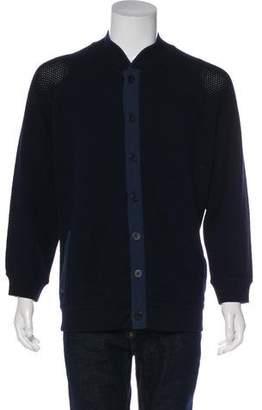 Giorgio Armani Knit Wool & Silk-Blend Jacket
