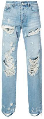 Faith Connexion distressed straight leg jeans