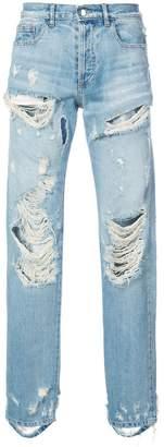 Faith Connexion distressed straight leg jeans