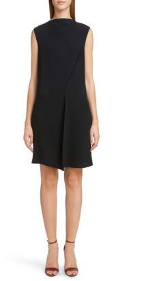 Victoria Beckham Asymmetrical Pleat Shift Dress