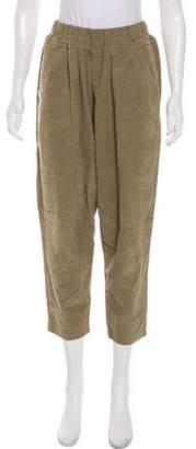 Black Crane High-Rise Corduroy Pants