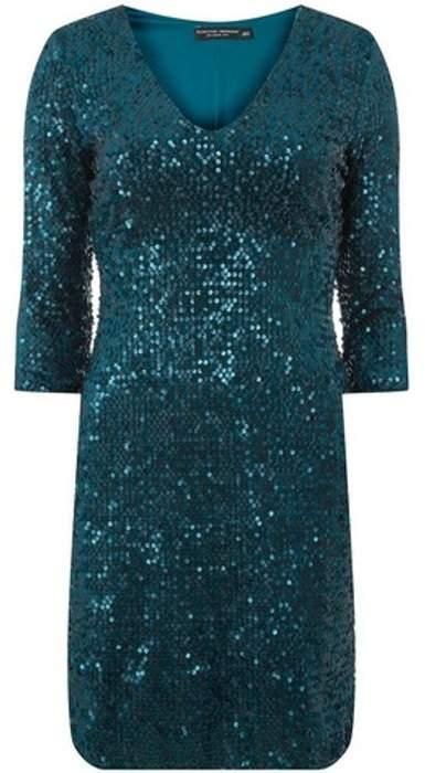 Womens Green Velvet Sequin Bodycon Dress