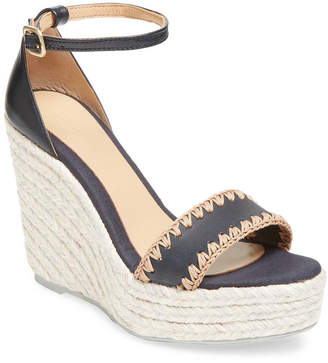 Manebi Leather Wedge Sandal