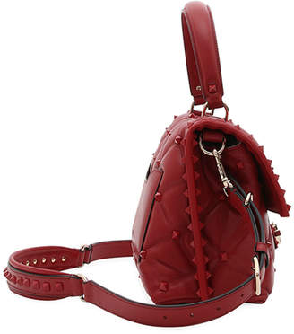 Valentino Candystud Quilted Leather Top-Handle Bag - Tonal Studs