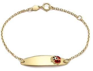 Ladybird Carissima Gold Girls' 9 ct Yellow Gold ID Bracelet with