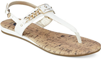 G by GUESS Jossy T-Strap Demi Wedge Sandals $29.99 thestylecure.com