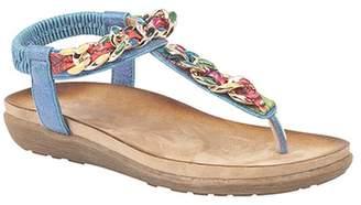 Boulevard Womens/Ladies Elasticated Jewel Toe Post Sandals