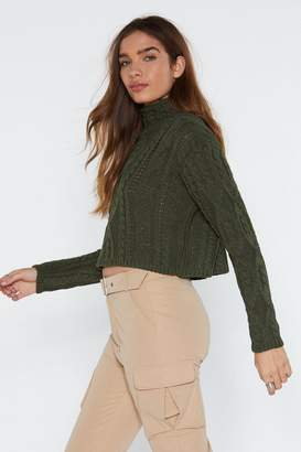 Nasty Gal Leave Knit to Me Cable Sweater