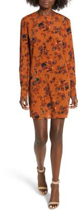 Leith Long Sleeved Shirred Cuff Dress