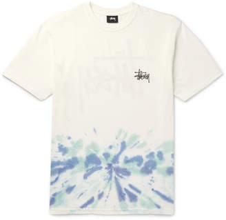 Stussy Logo-Print Tie-Dyed Cotton-Jersey T-Shirt