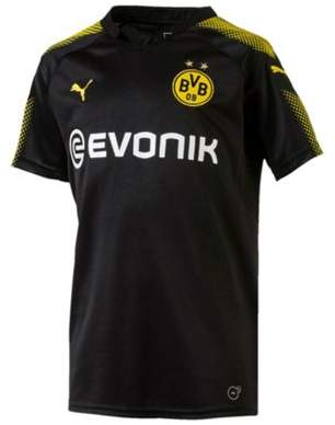 Puma Borussia Dortmund Bvb 2017/18 Kids Away Football Shirt Black 12/14