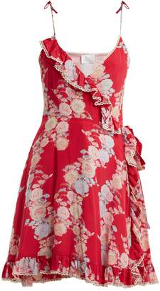 Athena PROCOPIOU Heartbeats V-neck floral-print dress