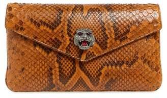 Gucci Broadway Genuine Python Envelope Clutch