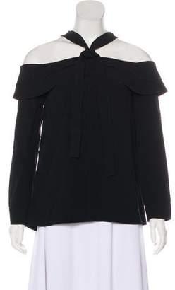 Proenza Schouler Asymmetrical Long Sleeve Blouse
