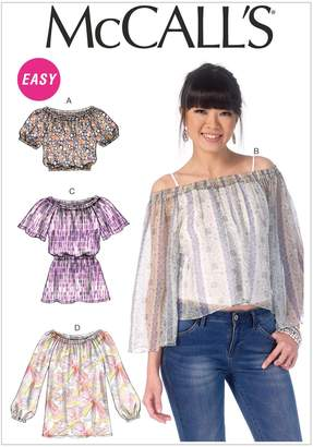 Mccall's M7163 Misses' Tops Sewing Template