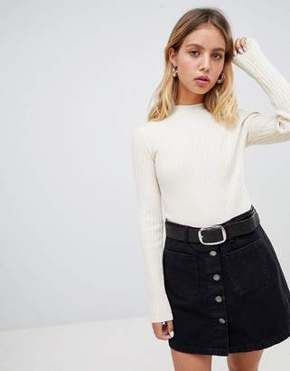 Wild Honey fitted sweater with high neck