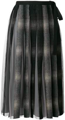 Antonio Marras checked pleated skirt
