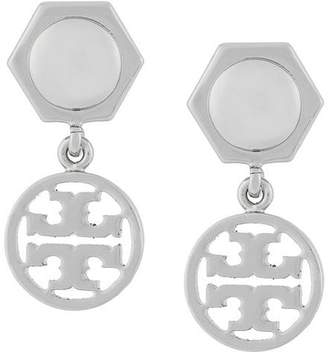 Tory Burch logo drop earrings