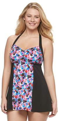 Women's A Shore Fit D-E Cup H-Back Swimdress