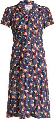 Morgan HVN planet-print silk dress