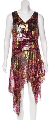 Anna Sui Printed Midi Dress