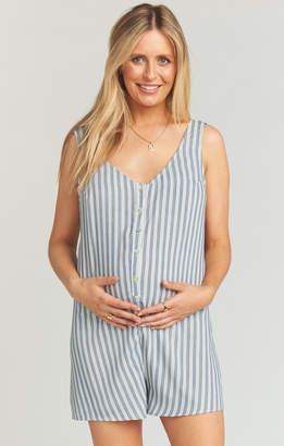 Show Me Your Mumu Maternity Ellie Romper ~ She Sails Stripe Flux