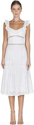 Adelyn Rae Charmaine Woven Lace Ruffle Dress