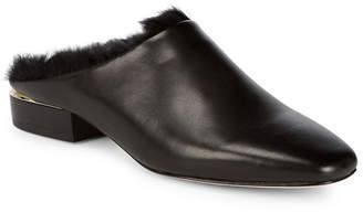 Pour La Victoire Sebina Leather Rabbit Fur Mule