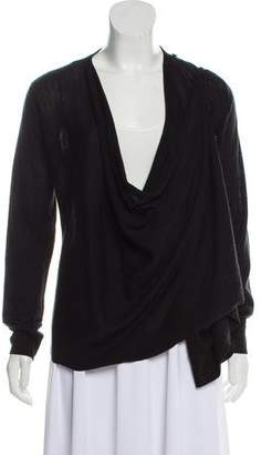 AllSaints Merino Wool Draped Sweater