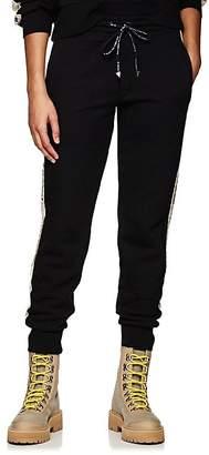 Palm Angels Women's Floral-Logo Cotton Fleece Sweatpants