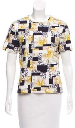 Nina Ricci Short Sleeve Printed Top