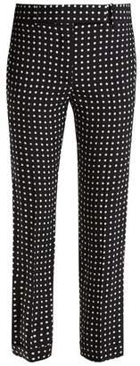 Haider Ackermann Slim Fit Polka Dot Print Trousers - Womens - Black White