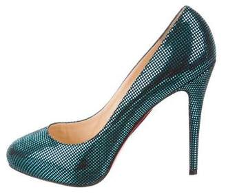Christian Louboutin Metallic Declic 120 Pumps