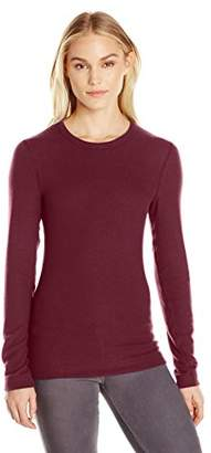 Three Dots Women's Long Sleeve Crew Brushed Sweater